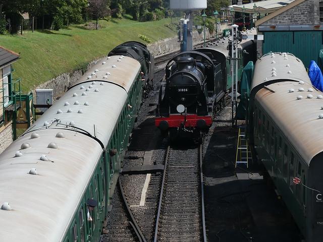 P1050372 - 2021-08-02 - Swanage Railway - SR 2-6-0 - U Class No. 31806 with 34028