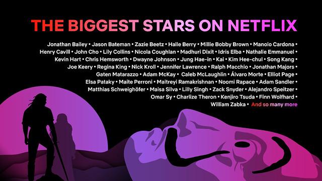 The Biggest Stars On Netflix
