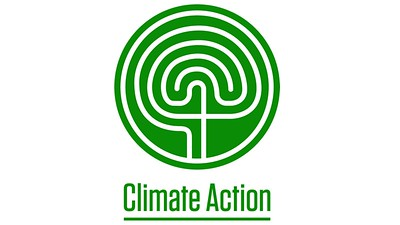 The Climate Action Graphic - a stylised labyrinth, forming a tree