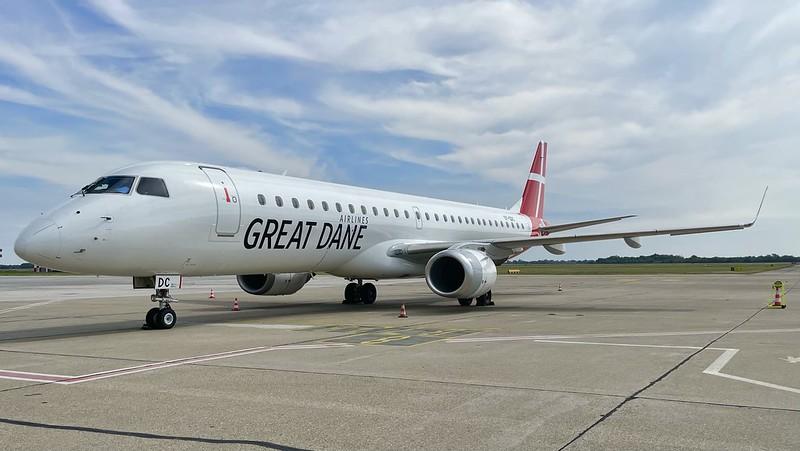 OY-GDC Great Dane Airlines Embraer ERJ-195LR