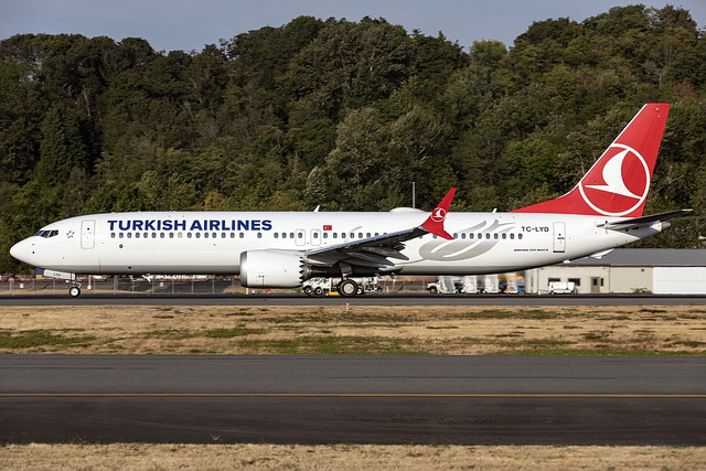 TC-LYD - Boeing 737-MAX 9 - Turkish Airlines - KBFI - 07 Sept 2021