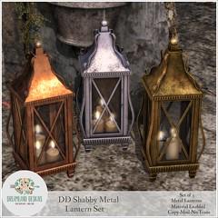 DD Shabby Metal Lantern SetAD