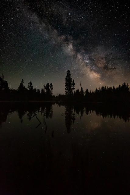 Night Reflections at String Lake