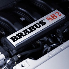 """""""SB2"""" Brabus engine decor plate - for fortwo 450 & roadster 452"""