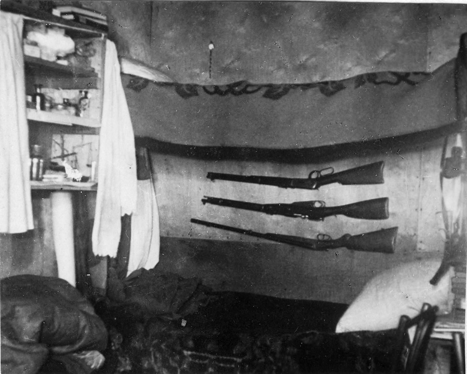 Комплект оружия в домике на острове Домашнем