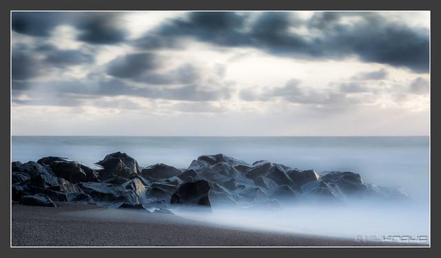 evening at North Sea near Vrist/Denmark