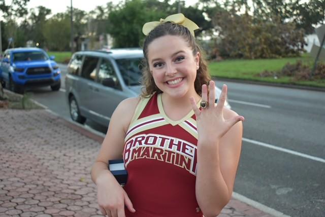 Cheerleading Receiving 2021 National Champion Rings