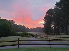 Sunrise on the golf course ud83dude0e
