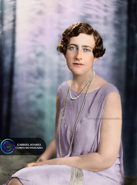 Agatha Christie - Colorization by Gabriel Soares