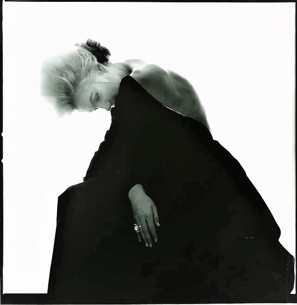 Marilyn Monroe fotografiada por Bert Stern, 1962. Vestido negro de Christian Dior