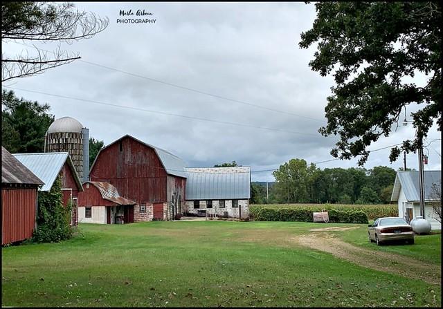 barns along the way...