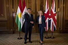 Foreign Secretary Liz Truss meets Kurdish PM Nechirvan Barzani