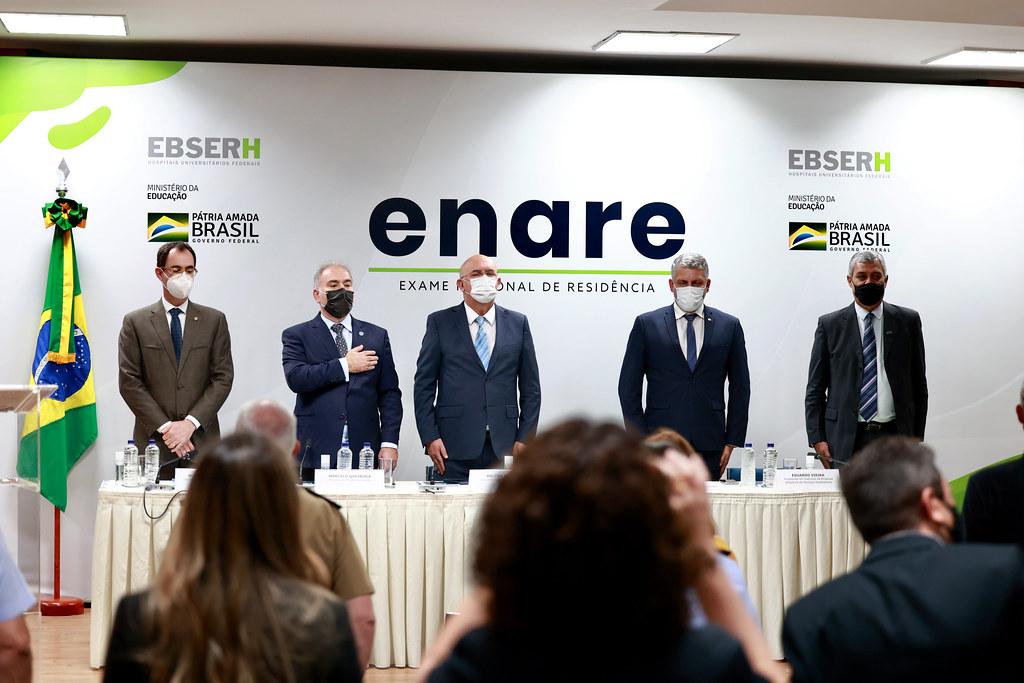 Cerimônia de abertura de adesão ao exame nacional de residência (ENARE). Brasília, 16.09.2021. Fotos- Walterson Rosa-MS-0823