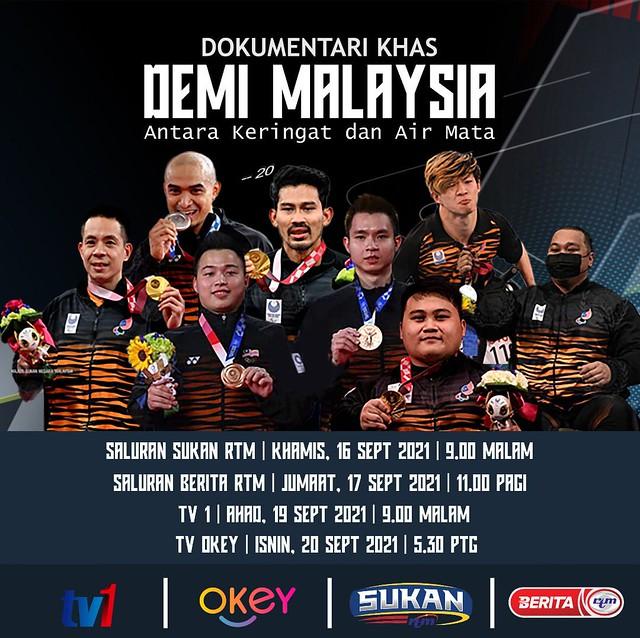 Demi Malaysia, Antara Keringat &Amp; Airmata, Dokumentari Sukan Khas Hari Malaysia Di Rtm