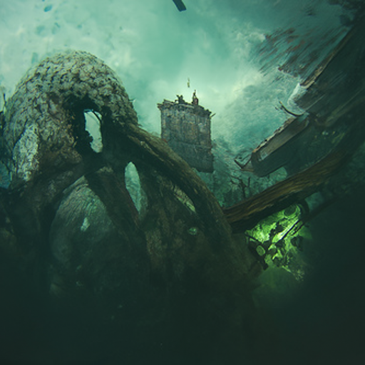 'Cthulhu by Craig Mullins' CLIP Guided Diffusion v5 Text-to-Image