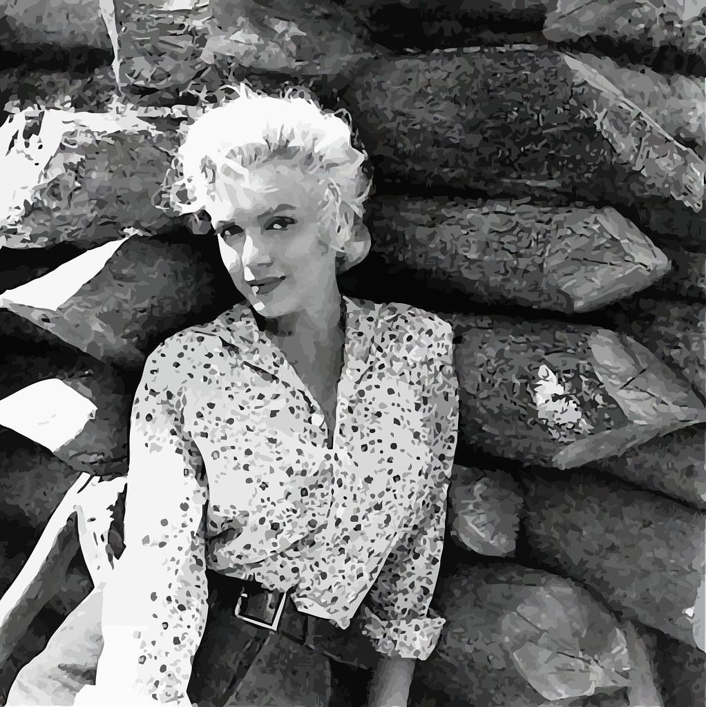 Marilyn Monroe en el plató del rodaje de la película El río sin retorno , 1953.