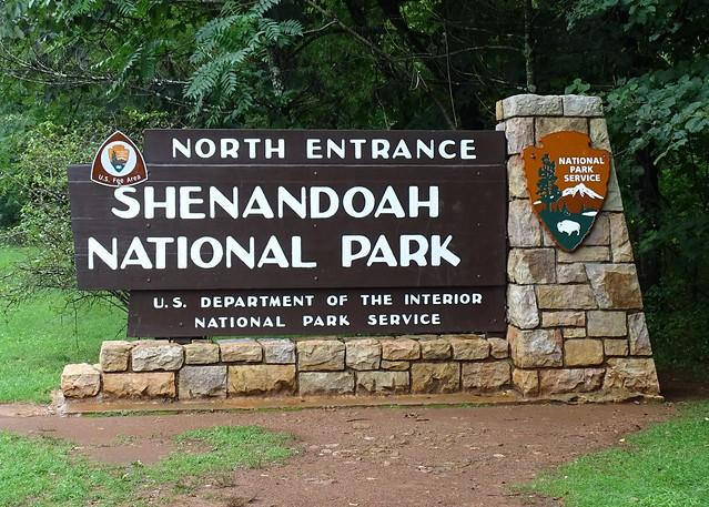 VA, Front Royal-Shenandoah Natonal Park Sign