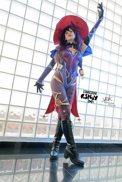 ComicdomCon Athens 2021 Cosplay - Maria's Mona from Genshin Impact, by SpirosK photography