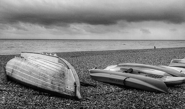 Hove beach boats
