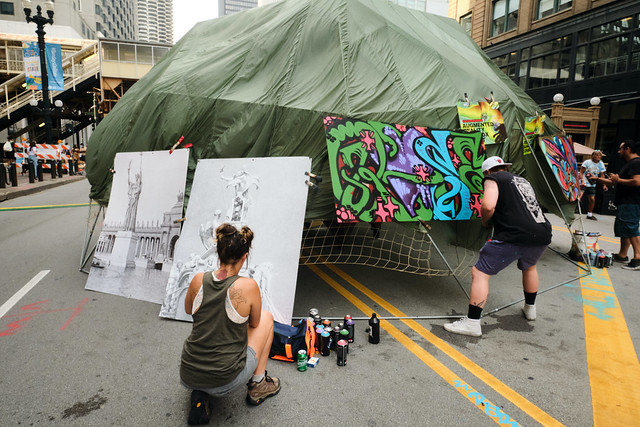 Street artists.