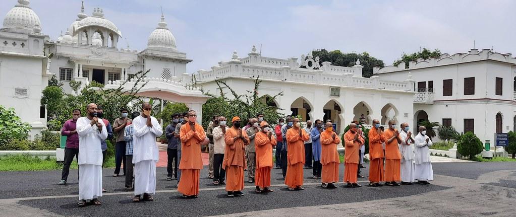 Special Prayer at RKM Vidyapith, Deoghar - COVID (3)