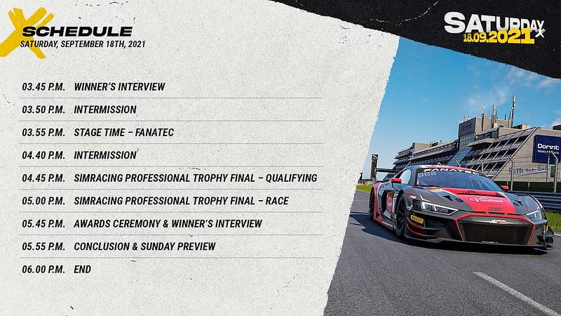 Sim Racing Expo Saturday Schedule 3