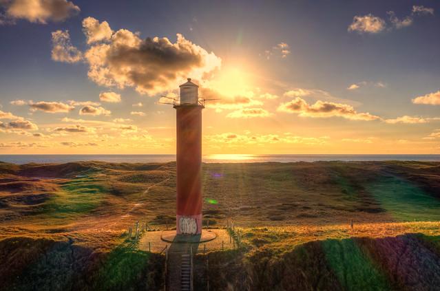 Lighthouse Grote Kaap, Julianadorp, Holland.