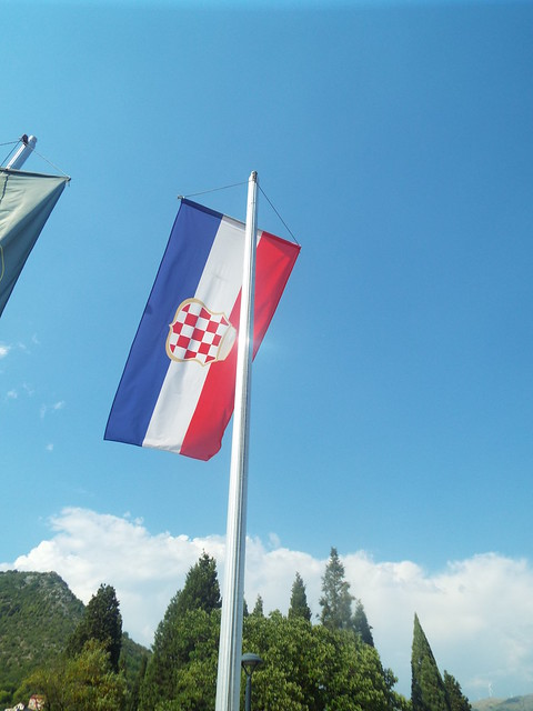 Croatian Defence Council War Memorial in Mostar Bosnia to the 1990s War and World War II