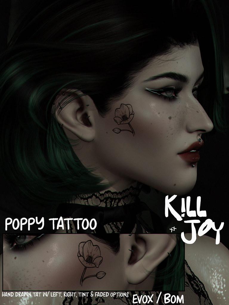 KILLJOY Poppy Tattoo.