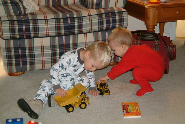 Eli, 2, and Aaron, 1