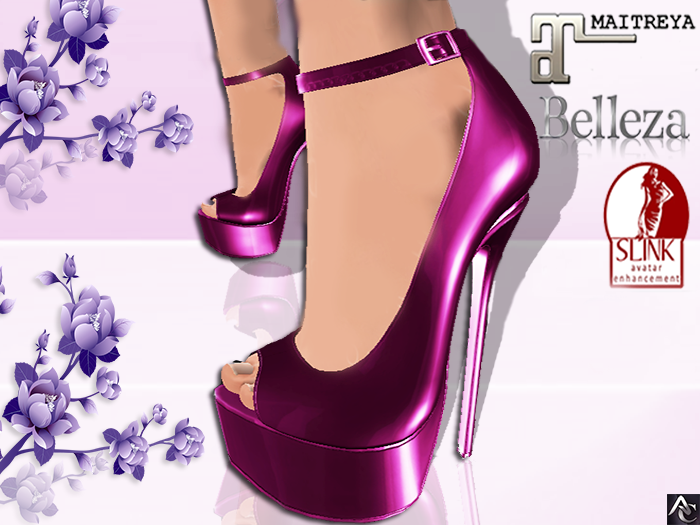::AC:: Purple Shoes Heels / SLINK/MAITREYA/BELLEZA