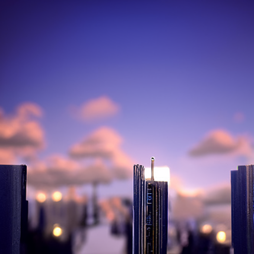 'a cityscape' CLIP Guided Diffusion v5 Text-to-Image