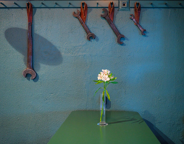 Tools and flowers