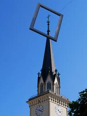 crucifix in a picture frame