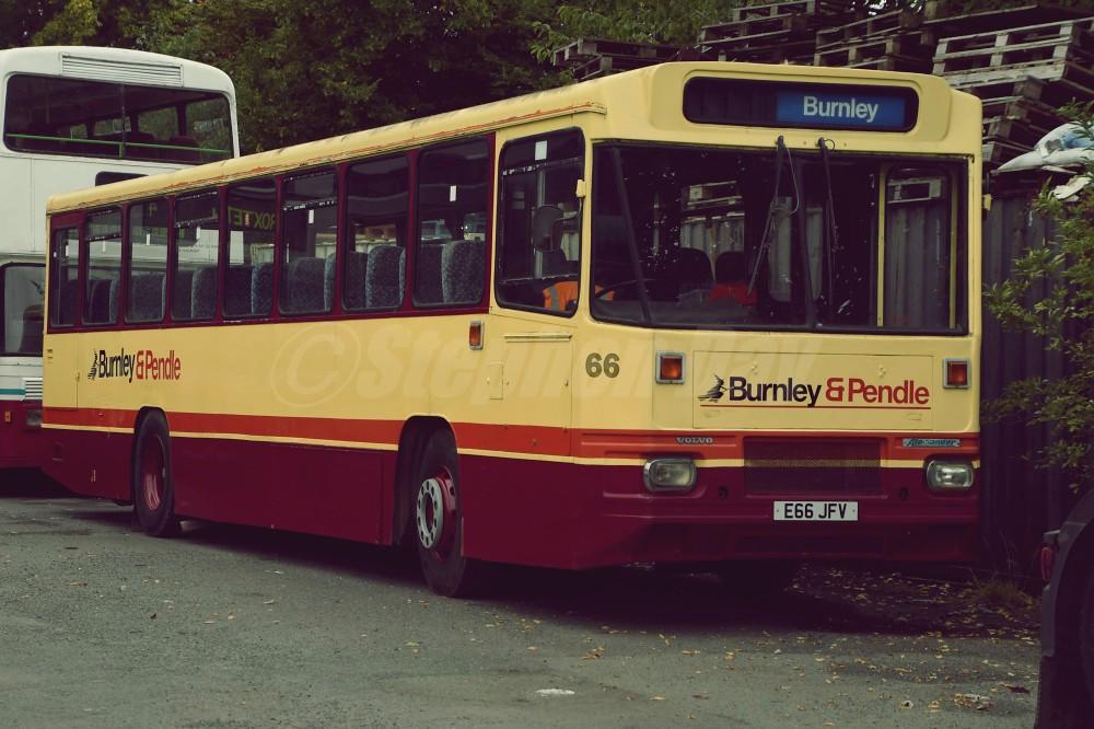 66 Burnley & Pendle E66JFV Volvo B10M-55 Alexander P. North West Vehicle Restoration Trust Kirkby 12.9.21