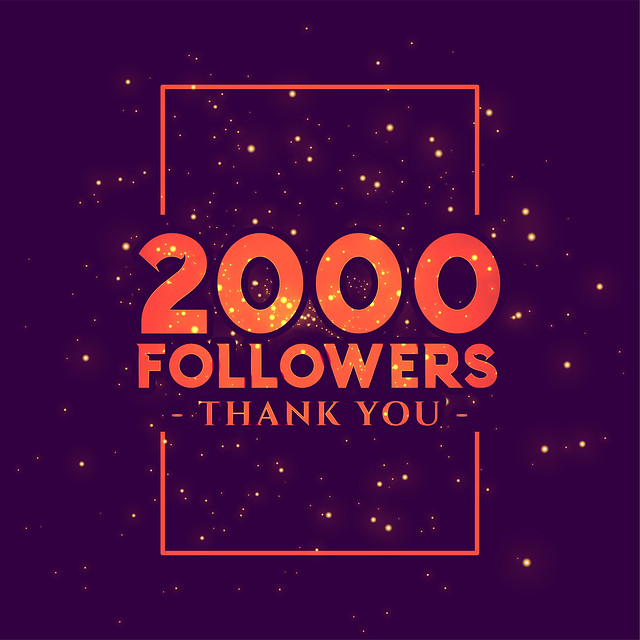 Thank you so much! 2k followers!
