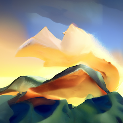 'digital art of a mountainscape as created by Persis Goodale Thurston Taylor' CLIP Guided Diffusion v5 Text-to-Image