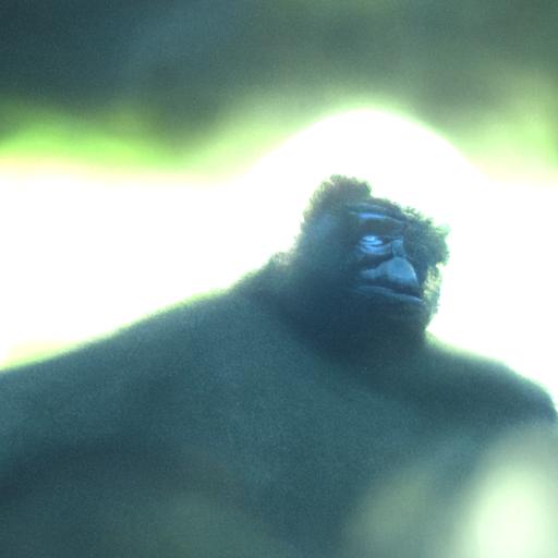 'a gorilla' CLIP Guided Diffusion v5 Text-to-Image