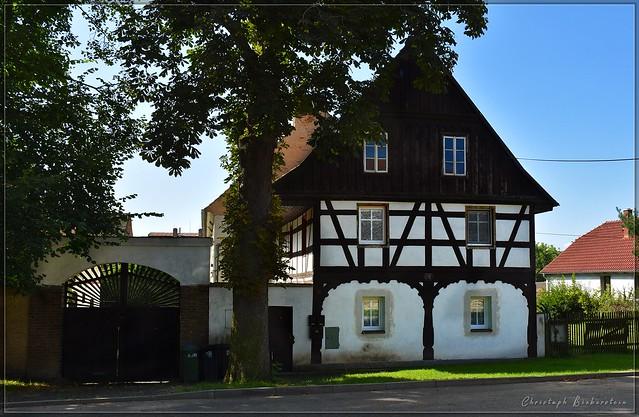 Fachwerkhaus in Ruschowann (Hrušovany)