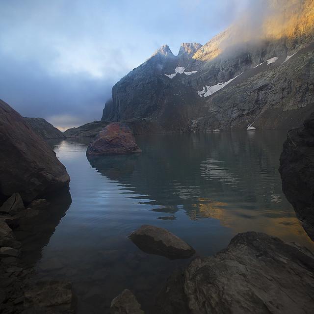 Lac de l'Eychauda le matin