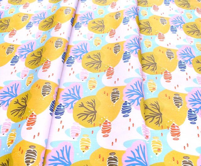 Paintbrush Studio Fabrics  Under the Sea 120-21930 Coral Choral