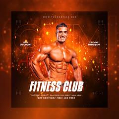 Fitness Gym Social Media Banner Post Template