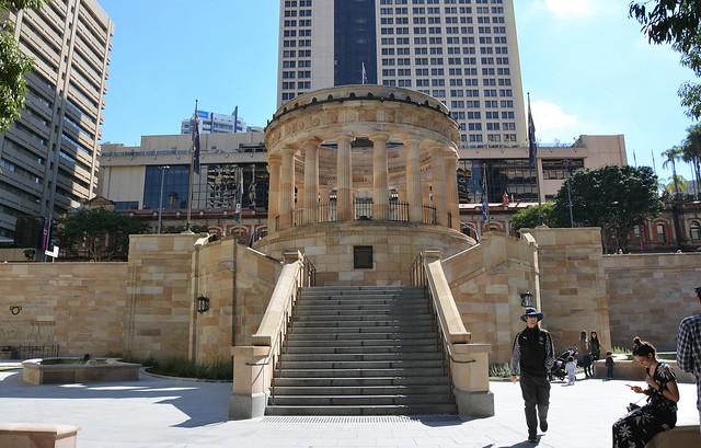 Brisbane - Shrine of Remembrance at Anzac Square. Queensland