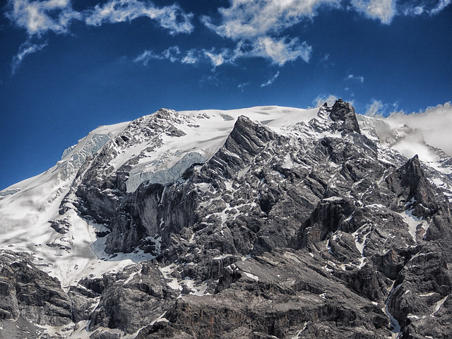 View of the Ortler group in South Tyrol