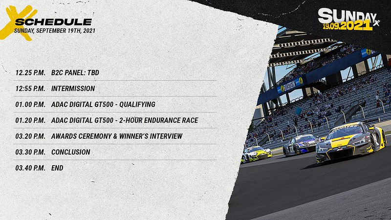 Sim Racing Expo Sunday Schedule 2