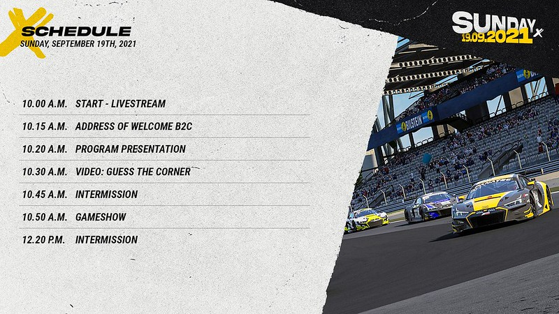 Sim Racing Expo Sunday Schedule 1