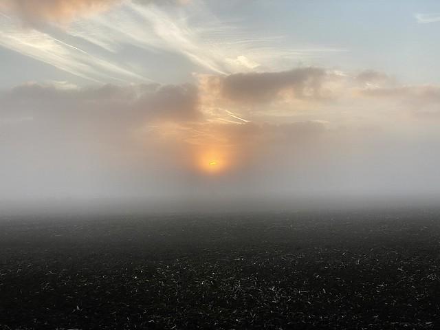 Misty Romney Marsh Sun Rise