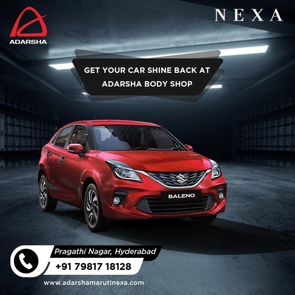 Get your car shine at our nexa showroom in hyderabad - Adarsha Nexa Service Centre in Hyderabad