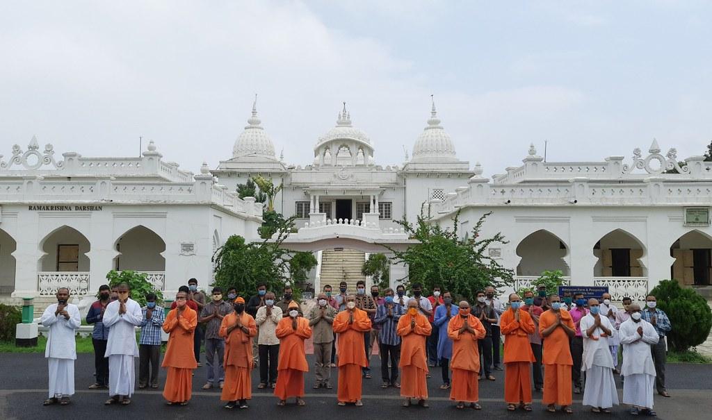 Special Prayer at RKM Vidyapith, Deoghar - COVID (5)