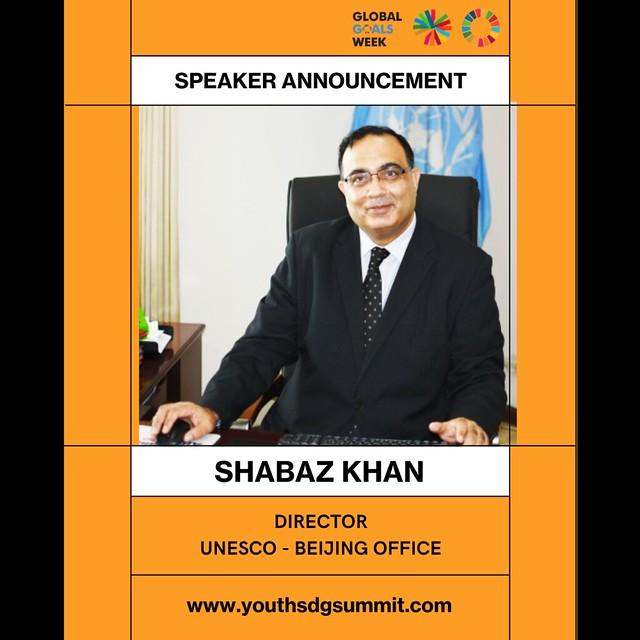 Shabaz khan, Abby Maxman, Tania Tome, David Simas speakers at Youth SDG Summit 2021